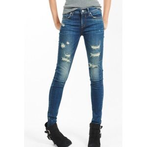 Express Mid Rise Distressed jeans (excl fr 5/$20)